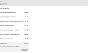 Cómo instalar Graphics Tools en Windows 10