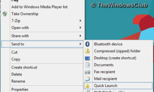 Agregar programas al inicio rápido a través del menú contextual en Windows 8