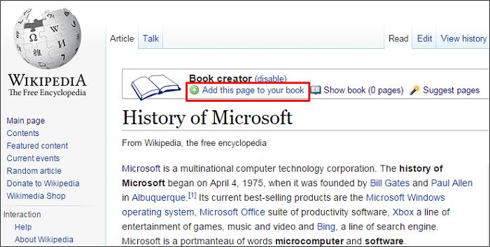 Cómo crear un libro electrónico a partir de Wikipedia 3