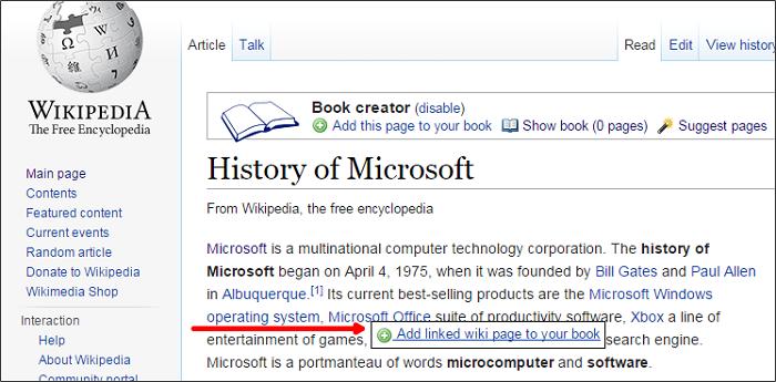Cómo crear un libro electrónico a partir de Wikipedia 4