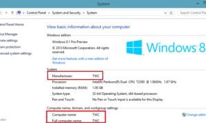 Agregar o cambiar información de OEM en Windows 10/8/7