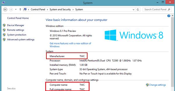 Agregar o cambiar información de OEM en Windows 10/8/7 4