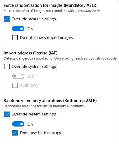 El debate sobre la implementación de la aleatorización del diseño del espacio de direcciones en Windows