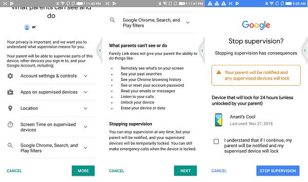 Cómo configurar la actividad de Google Family y Track Kids en el teléfono 41