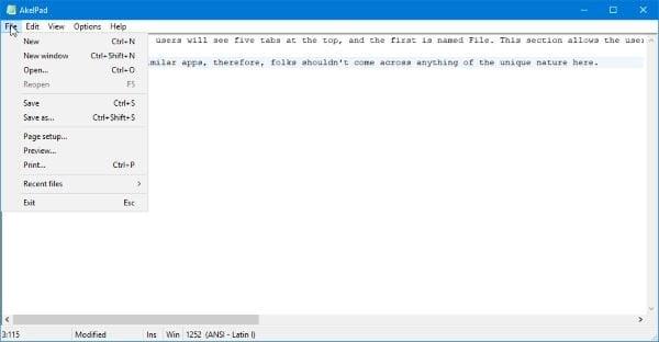 AkelPad es un editor de texto rico en funciones para reemplazar el Bloc de notas en Windows 1
