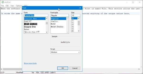 AkelPad es un editor de texto rico en funciones para reemplazar el Bloc de notas en Windows 2