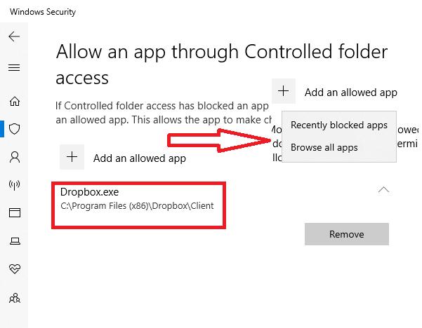 Cómo permitir aplicaciones a través del acceso a carpetas controladas en Windows Defender