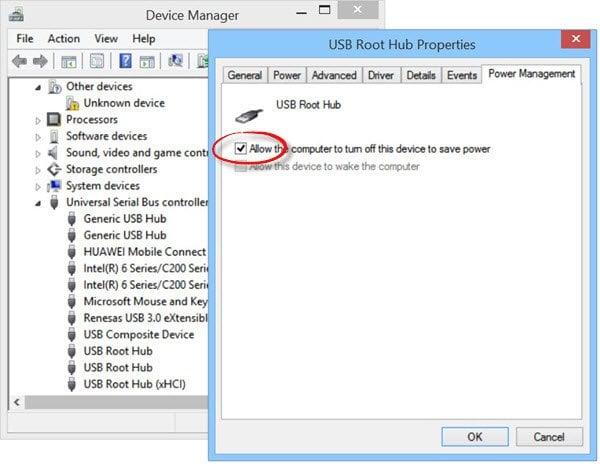 Dispositivo USB no reconocido en Windows 10/8/7