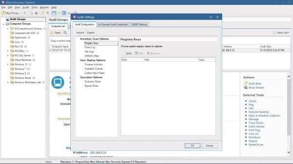Realice una auditoría de red con Alloy Discovery Express para Windows 3