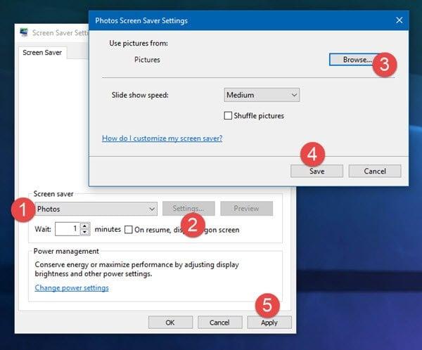 La presentación de diapositivas de Windows para el fondo de escritorio no funciona