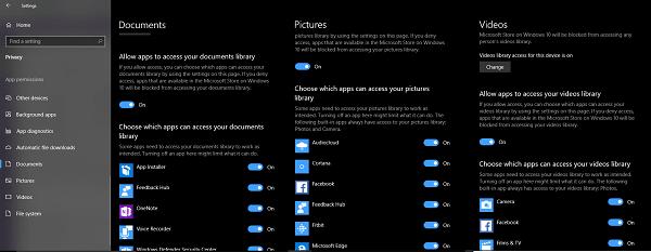 Cómo evitar o permitir el acceso de aplicaciones al Sistema de Archivos en Windows 10