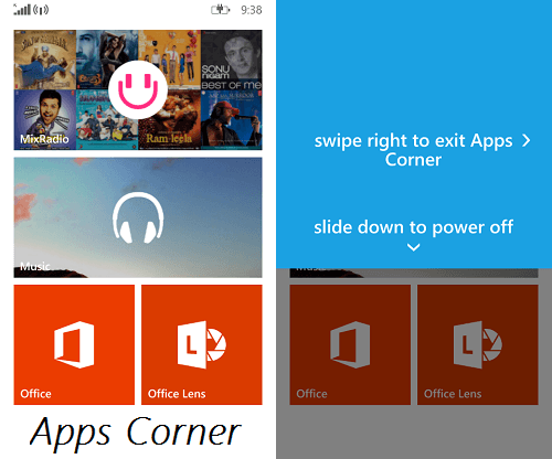 Uso de Apps Corner en Windows Phone 8.1