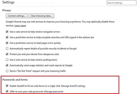 La función de Autorelleno del Navegador Chrome podría ser un riesgo para la seguridad de los usuarios