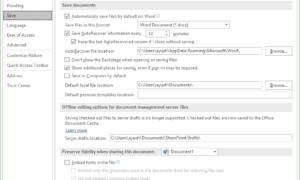 Cómo cambiar el intervalo de tiempo de ahorro automático en Office Apps