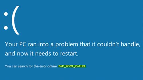 Corregido: BAD_POOL_CALLER error en Windows 10/8/7