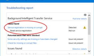 El servicio Background Intelligent Transfer Service no funciona en Windows 10