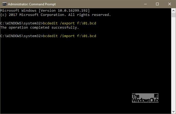 Cómo hacer copias de seguridad y restaurar archivos BCD en Windows 10 1