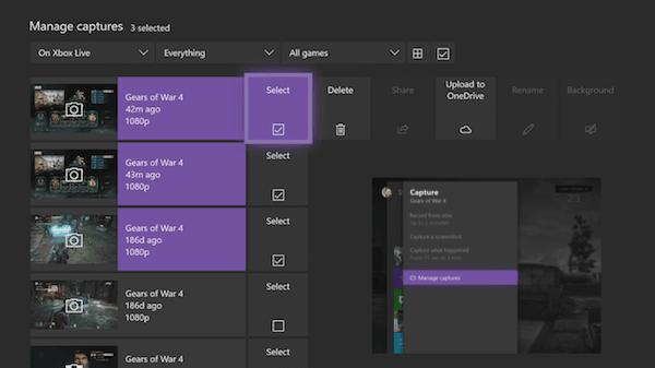 Cómo tomar, compartir, eliminar y gestionar capturas de pantalla en Xbox One