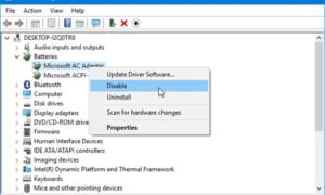 Falta el icono de batería en la barra de tareas; la configuración del botón de encendido aparece en gris en Windows 10.
