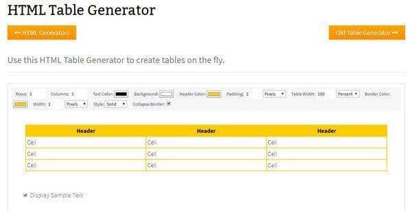 Las mejores herramientas gratuitas de Generador de Tablas en línea para crear Tablas para cualquier propósito 4