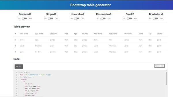 Las mejores herramientas gratuitas de Generador de Tablas en línea para crear Tablas para cualquier propósito 6