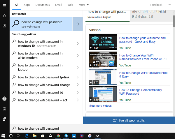 Cómo ayuda Bing Search a responder directamente a las consultas de Windows 10 7