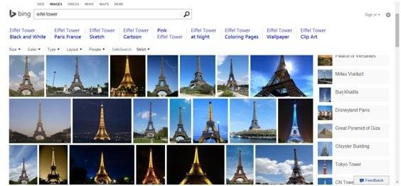Por qué Bing Image Search es mejor que la competencia 2