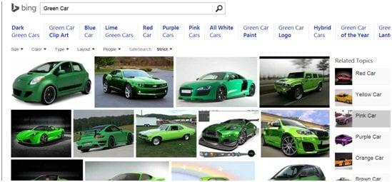 Por qué Bing Image Search es mejor que la competencia 5