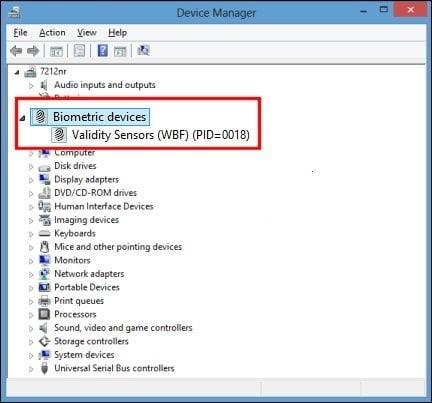 El lector de huellas dactilares no funciona en Windows 8.1/10