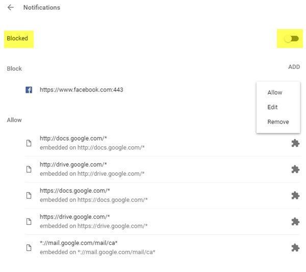 Cómo desactivar las notificaciones push de escritorio de Google Chrome