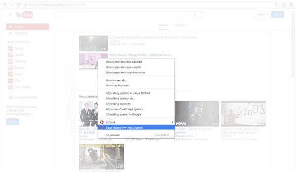 Bloqueador de vídeo para Chrome, Firefox te permite bloquear los canales de vídeo no deseados