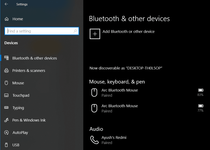 En Windows 10 no hay ningún botón para activar o desactivar Bluetooth. 1
