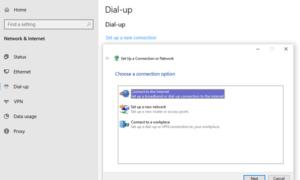 Cómo configurar una conexión a Internet en Windows 10