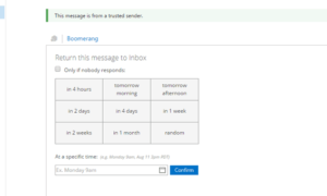Cómo usar Boomerang para Outlook