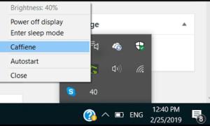 Bandeja de brillo: Cambiar el brillo o Apagar la pantalla con un clic