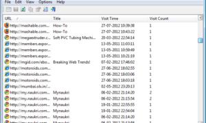 NavegaciónVistaHistoria: Ver el historial de navegación de 4 navegadores al mismo tiempo