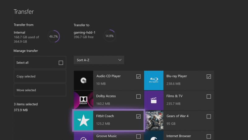 Cómo transferir juegos y aplicaciones de Xbox One al disco duro externo