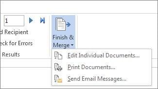 Cómo enviar mensajes de correo electrónico masivo en Outlook con Mail Merge