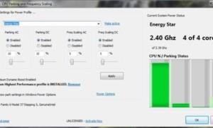 ParkControl: Ajustar la configuración del estacionamiento del núcleo y la escala de frecuencia de la CPU en Windows
