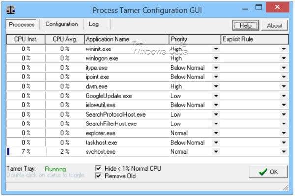 Domador de procesos: Gestione una utilización alta o del 100% de la CPU en Windows