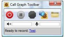 Grabar una conversación de Skype con la barra de herramientas Gráfico de llamadas 6