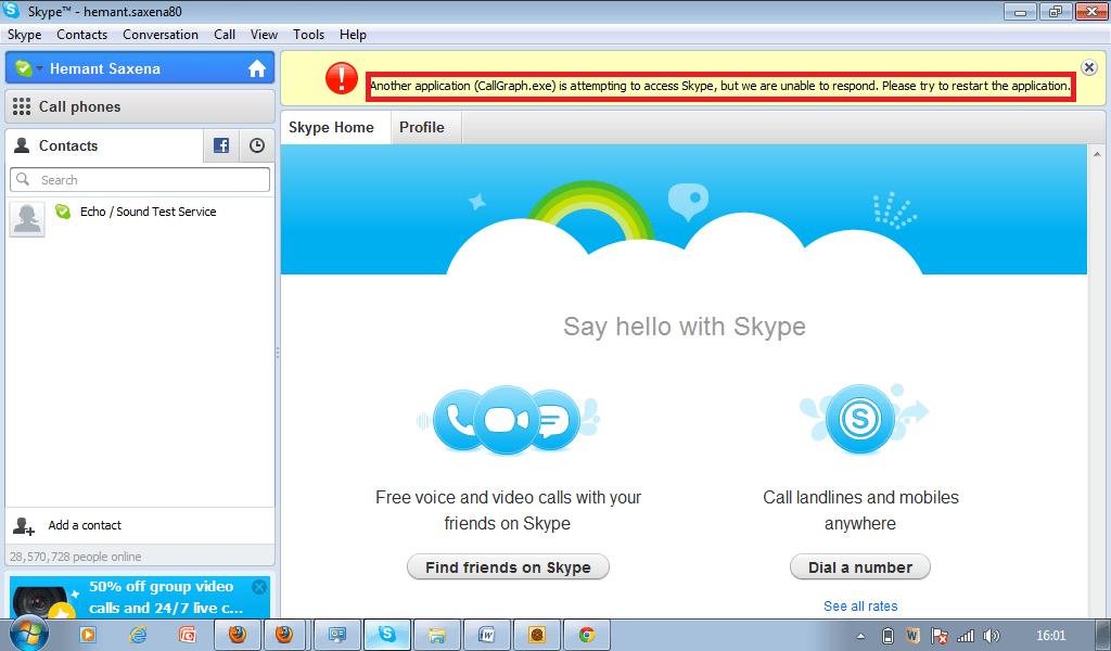 Grabar una conversación de Skype con la barra de herramientas Gráfico de llamadas 1