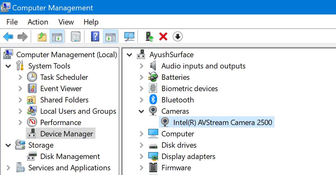 Código de error 0xa00f4243 para la aplicación Cámara en Windows 10 3