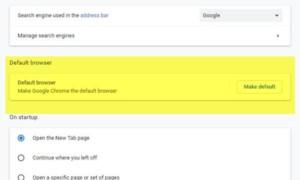 No se puede establecer Google Chrome como navegador predeterminado en Windows 10