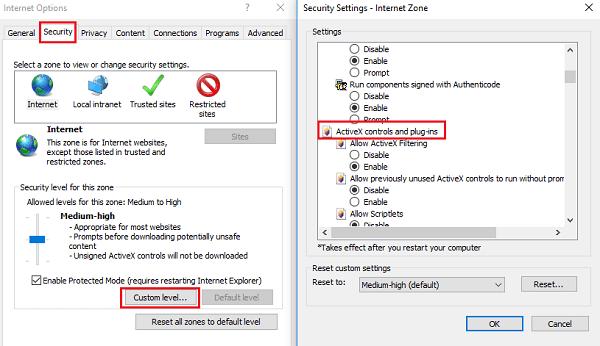 Cómo usar los controles ActiveX para Internet Explorer 11