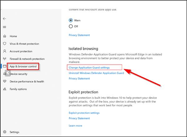 Activar o desactivar la cámara y el micrófono en Windows Defender Application Guard for Edge