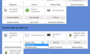 Cambiar el comportamiento de las teclas de función en los portátiles Dell