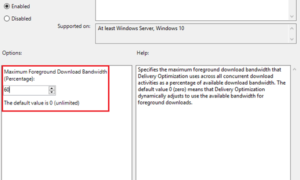 Cómo limitar el ancho de banda de las descargas en primer plano en Windows 10