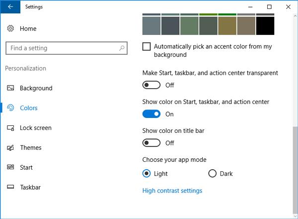 Cómo obtener barras de título de ventanas coloreadas en Windows 10