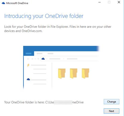 Mover o cambiar la ubicación de la carpeta OneDrive en Windows 10 3